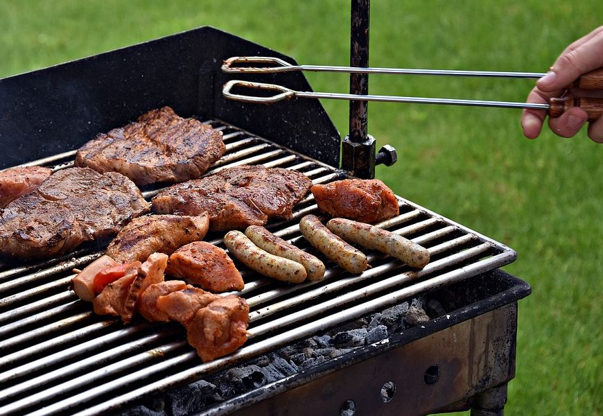 meat grilled in charcoal
