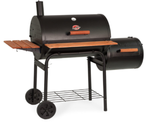 Square Inch Charcoal Grill with Side Fire Box