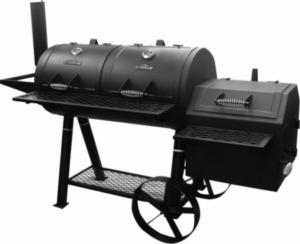 BBQ Grill Double Lid Black