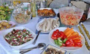 Assorted BBQ buffet