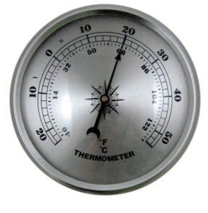 temperature gauge in degrees and fahrenheit