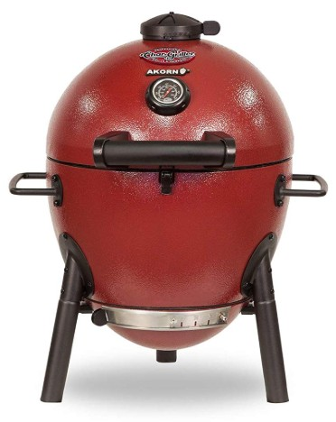 Char-Griller E06614 AKORN Jr., Red Charcoal Kamado Grill