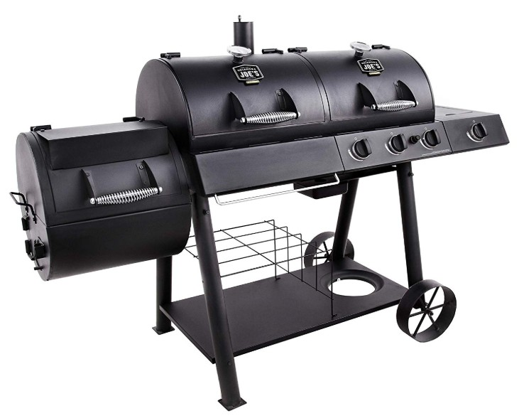 Oklahoma Joe's 3-in-1 Charcoal/LP Gas/Smoker Combo