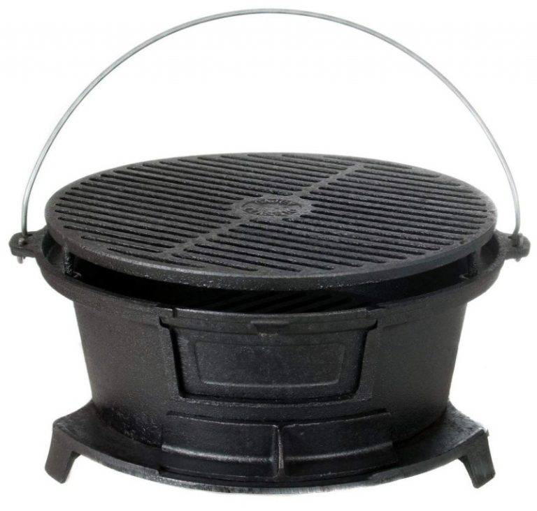 Cajun Classic Round Seasoned Cast Iron Charcoal - Gl10447