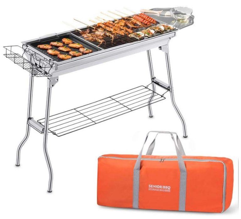 Portable Foldable Charcoal Grill with Storage Bag