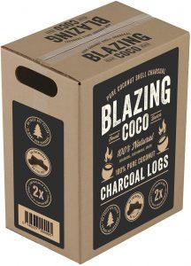 Blazing Coco Premium 20 Pound Coconut Shell Charcoal Logs