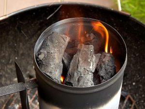 Grilling Steak Directly on a Charcoal Starter