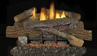 Superior Fireplaces 18-Inch Boulder Mountain Gas Log Set