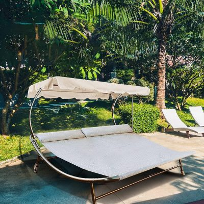 Abba Patio Outdoor Double Chaise Lounge