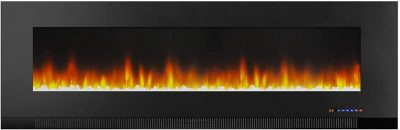Amazon Basics Wall-Mounted Recessed Electric Fireplace