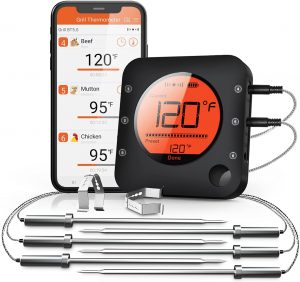 Bluetooth Wireless Meat Thermometer With 6 Probes
