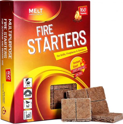 Fire Starters BIG PACK 160 Squares Charcoal Starter