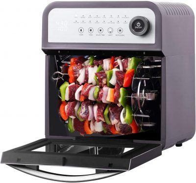 Geek Chef 16-in-1 Air Fryer Toaster Oven Combo, 12 Quart