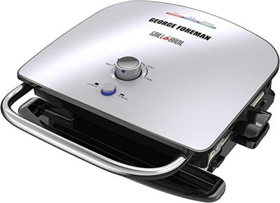 George Foreman GBR5750SSQ Grill & Broil 7-in-1 Electric Indoor Grill