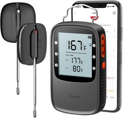 Govee Grill Thermometer, Bluetooth Digital Meat Thermometer with Dual Probe