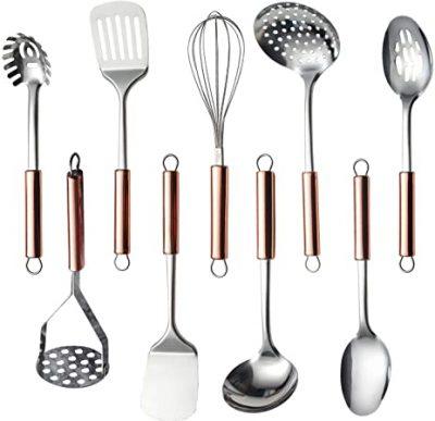 HOMQUEN Stainless Steel Kitchen Utensil Set
