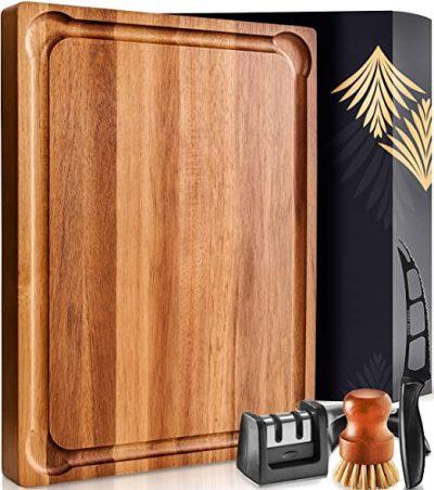 Home Hero Wood Cutting Board with Handle