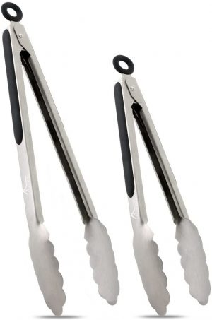 Hotec Stainless Steel Kitchen Tongs