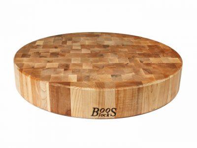 John Boos End Grain Round Chopping Board