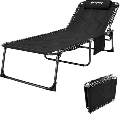 KingCamp 4-Fold Oversize Folding Chaise Lounge
