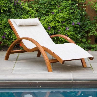 Leisure Season Sling Patio Chaise Lounge
