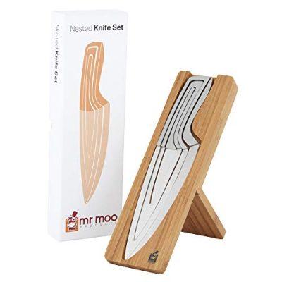 Mr Moo's 4-Piece Nested Knife Set