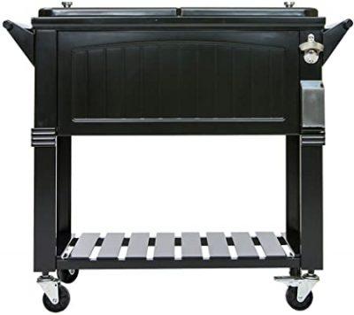 Permasteel 80 Quart Portable Rolling Patio Cooler