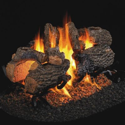 Peterson Real Fyre 16-Inch Charred Oak Gas Log Set