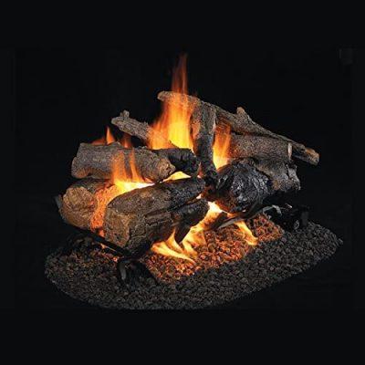 Peterson Real Fyre 18-Inch Charred American Oak See-Thru Gas Log Set