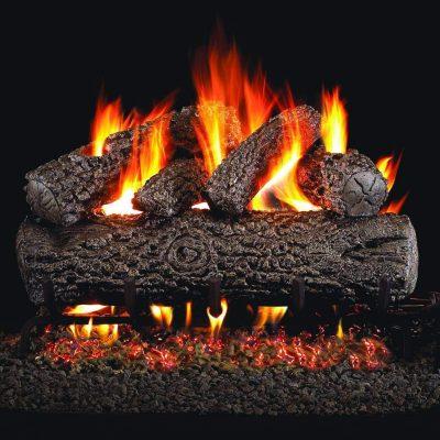 Peterson Real Fyre 18-Inch Post Oak Gas Log Set