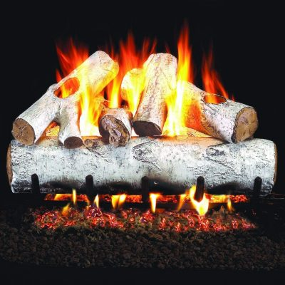 Peterson Real Fyre 18-Inch White Mountain Birch Gas Log Set