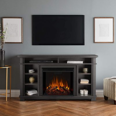 Real Flame 7330E-GRY Belford Electric Fireplace Entertainment Center