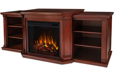 Real Flame 7930E-DM Valmont 75-Inch Electric Fireplace Entertainment Center