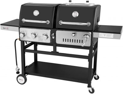 Royal Gourmet ZH3003 Dual 3-Burner Gas and Charcoal Grill Combo