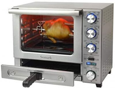 Somark Multifunctional Convection Rotisserie Dual-Chamber Oven With Pizza Drawer 1500W