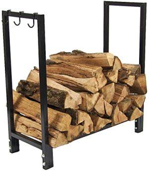Sunnydaze Firewood Metal Log Rack
