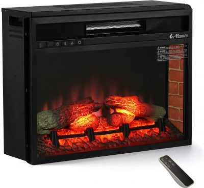 TURBRO 23-Inch Recessed Electric Fireplace