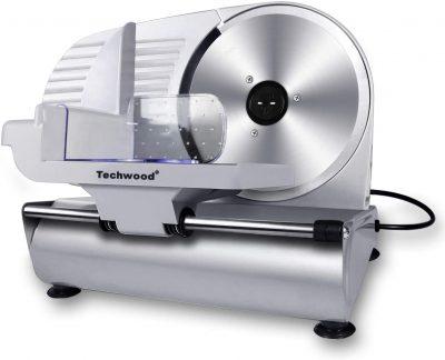 "Techwood Electric Meat Slicer, 200W, 9"" Blade"