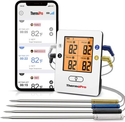 ThermoPro TP25 500ft Wireless Bluetooth Meat Thermometer