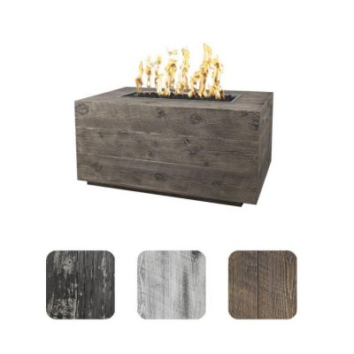 Top Fires by The Outdoor Plus Catalina Propane Gas Fire Pit - Concrete Oak Wood Grain