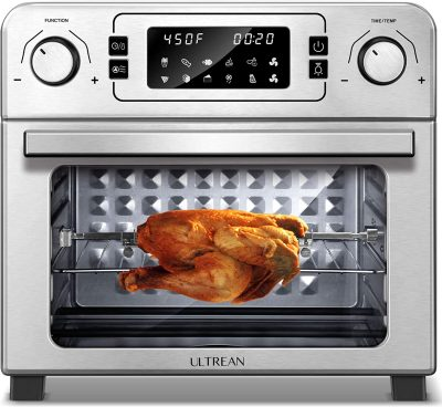 Ultrean 10-in-1 Toaster Oven with Rotisserie, Dehydrator, Bake and Air Fryer Function, 24 Quart