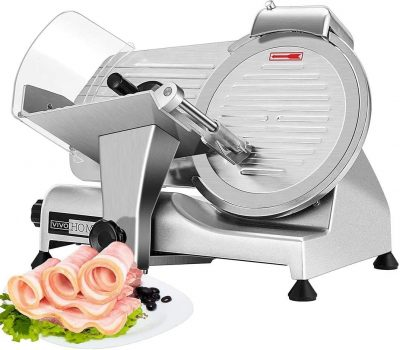 VIVOHOME 10 Inch Heavy Duty Stainless Steel Electric Meat Slicer