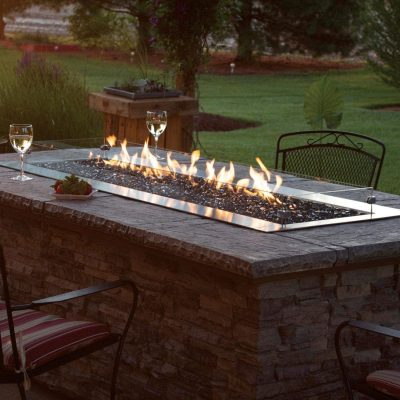 White Mountain Hearth By Empire Carol Rose Propane Gas Outdoor Linear Fire Pit