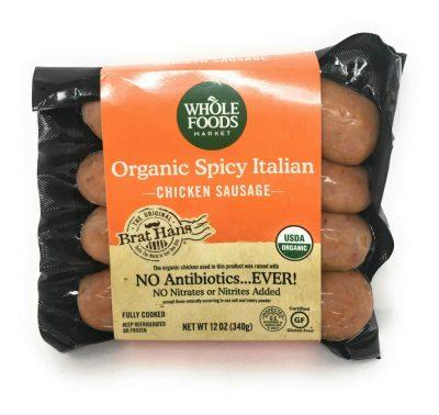 Whole Foods Market, Organic Chicken Sausage